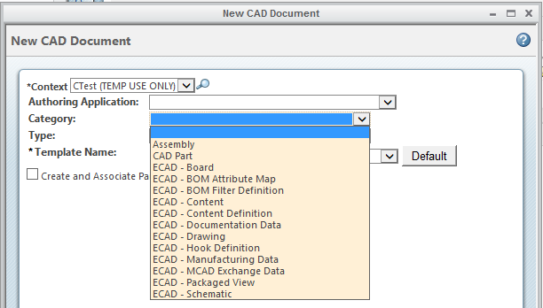 Ecad related document types ecad neutral ptc community document until an authoring application is selected or set to ecad neutral then the list drops to either 1 or 8 as shown on the screen grabs below malvernweather Gallery