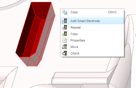 Add Smart Electrode command in context menu