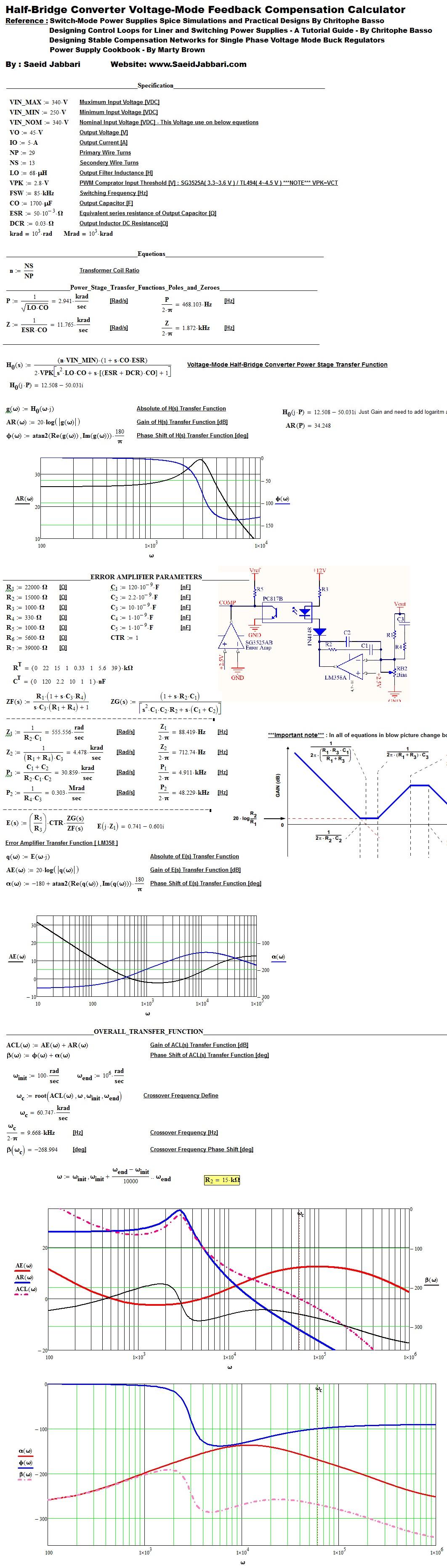 Solved Problem In Half Bridge Converter Feedback Calculat Ptc