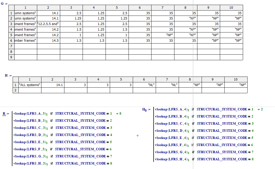 How to use VLOOKUP related to a table in MATHCAD P... - PTC User ...