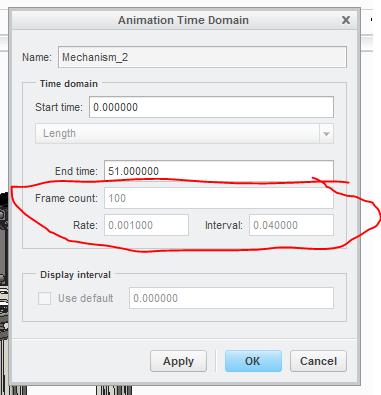 Animation Time Domain - Frame Rate option locked. - PTC Community