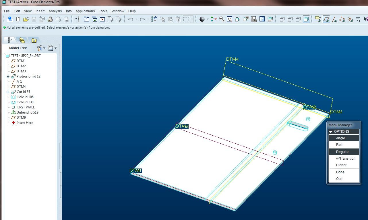 Symmetrically Opposite Sheet Metal Part Bend Oth