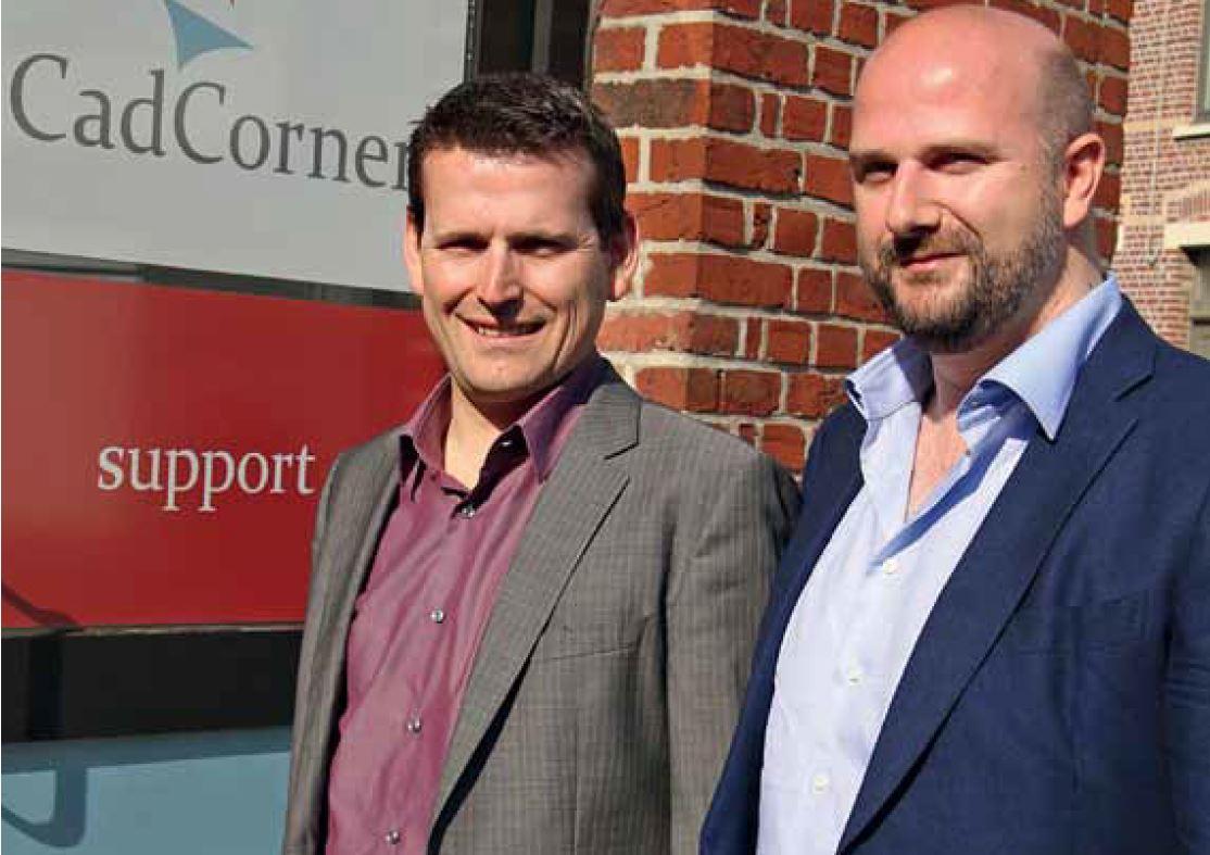 Xavier Werbrouck and Mike Matheeussen, Managing Directors of PTC University Authorized Training Partner, CadCorner BVBA, Belgium