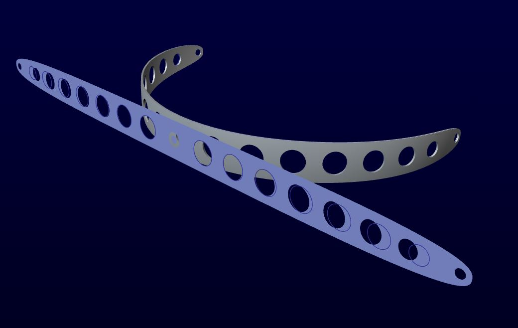 How To Create A Flat Pattern Of A Helical Swept Sh