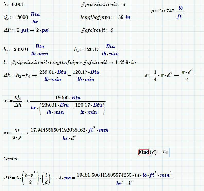 Solving Equations For Undefined Variable With Unit Ptc Community