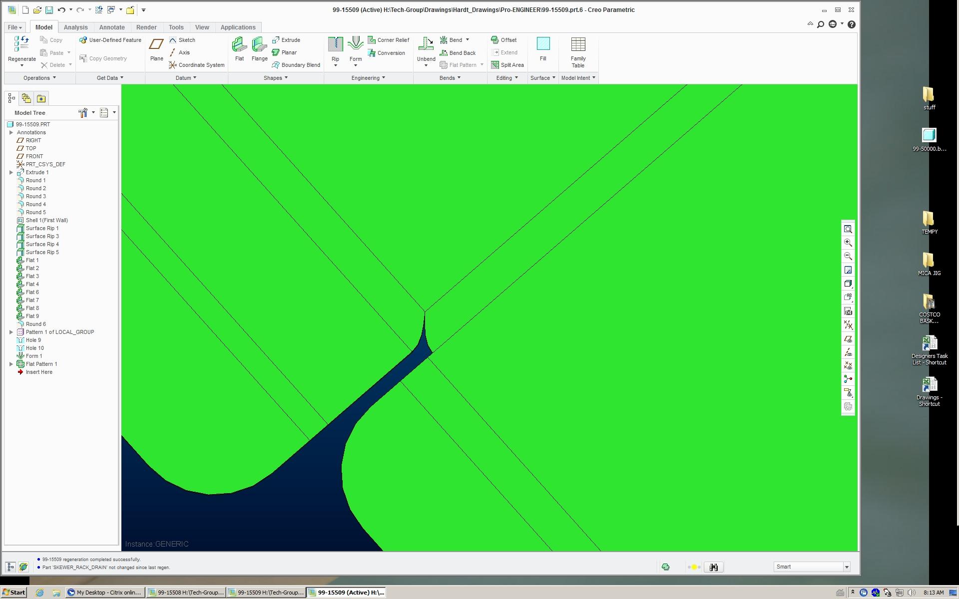 Solved Closing A Gap Default Sheetmetal Bend Radius Ope