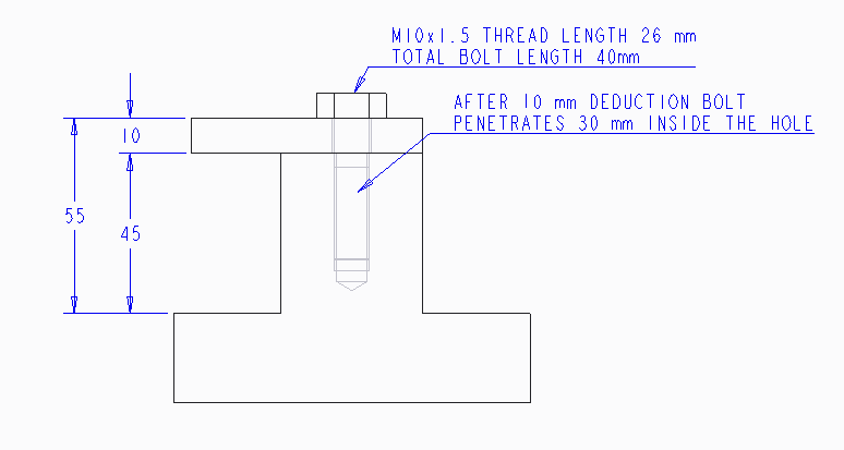 Solved: How to calculate the depth of hole thread if it is