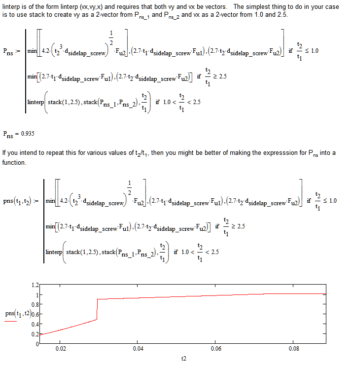 linear interpolation function - PTC Community