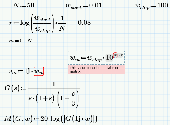 Solved: Bode Plot from given Transfer Function in Mathcad     - PTC