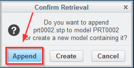 Creo 3 - Append option, where is it? - PTC Community