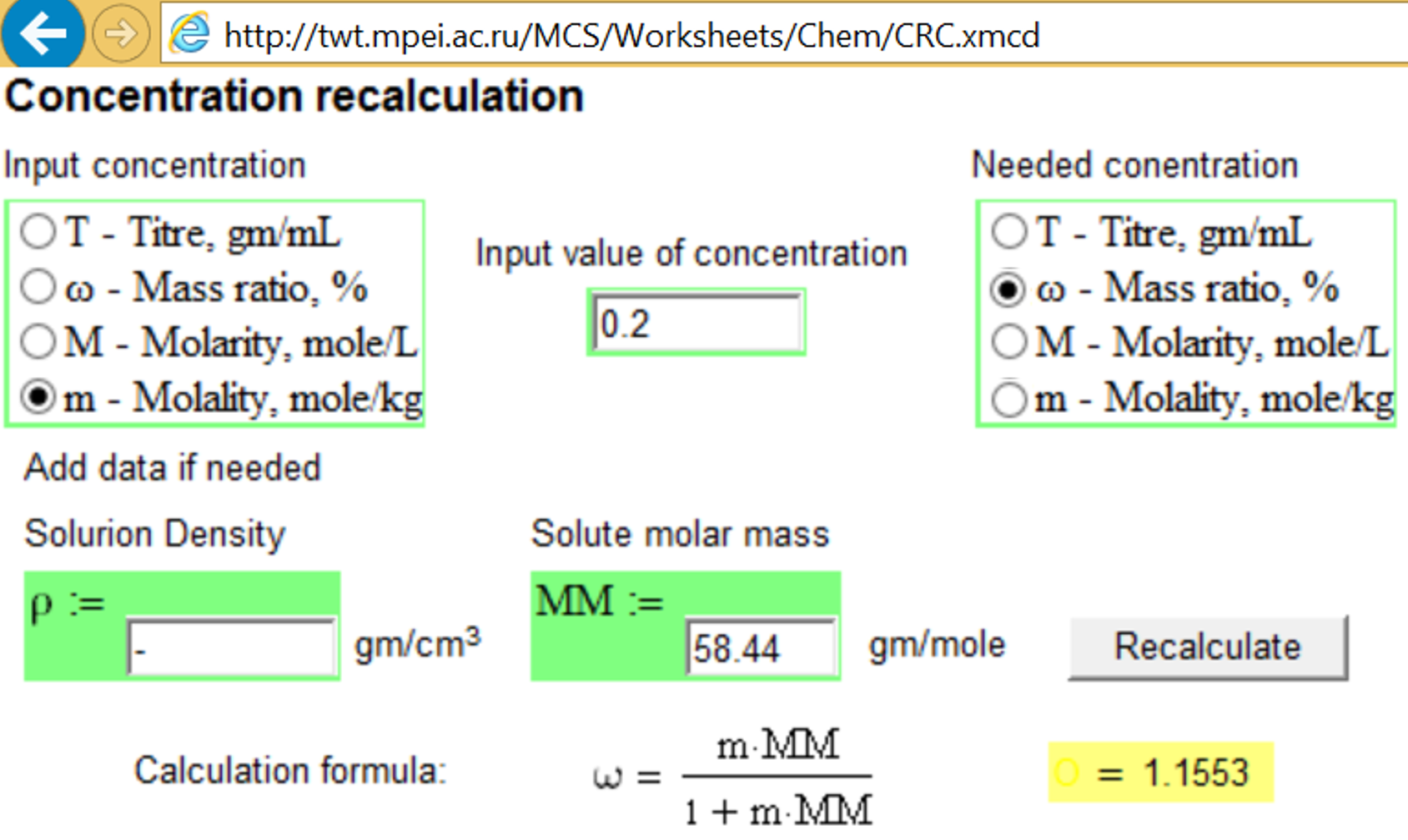 Study  3 Concentration of solutions - PTC Community