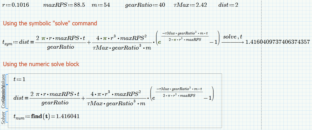 Solved Solving Symbolic Equations For One Variable Ptc Community