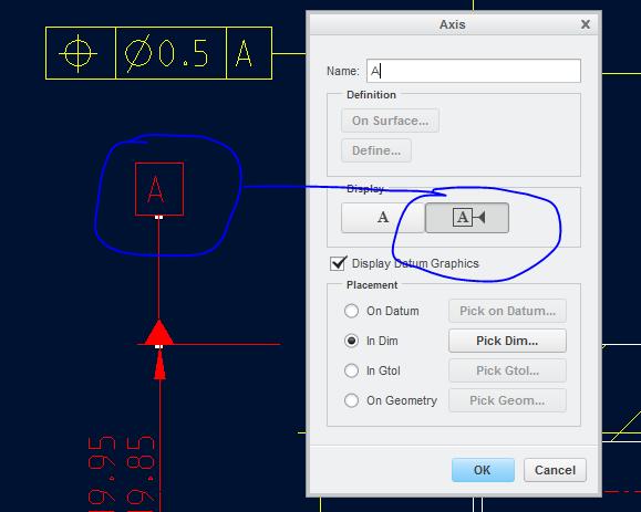 Datum axis display style - PTC Community