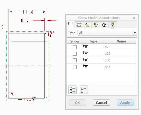Can't get dimensions from my model to the drawing - PTC Community