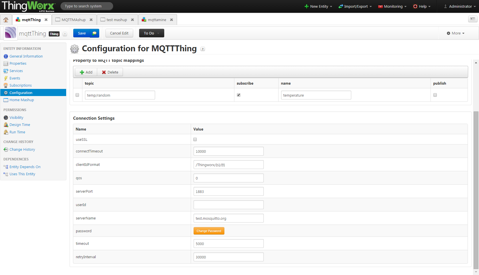 MQTT support in ThingWorx - PTC Community