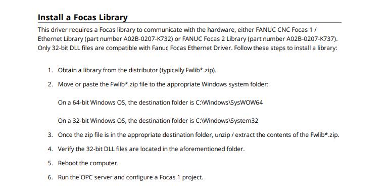 Fanuc focas library download