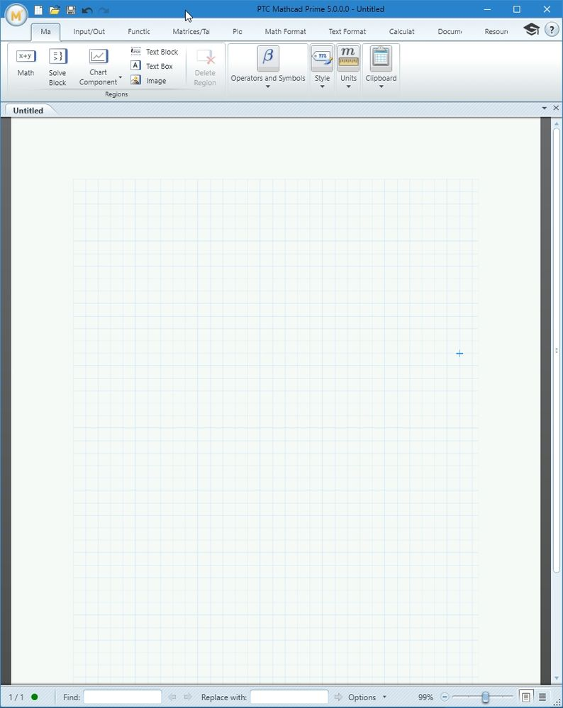 Mathcad 5.0 Prime at the same size