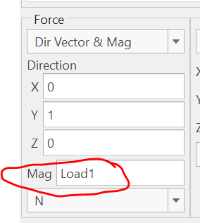 Assign the Load with the parameter.