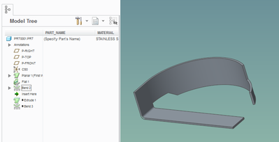 """3 - bend using """"up to end of surface"""" option"""