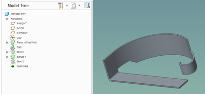 """... can be bent (again using the """"to end of surface"""" option)"""