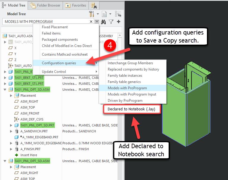 Creo Save a Copy Configuration Queries.png