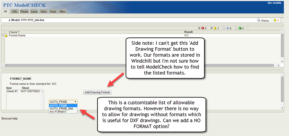ModelCheck Drawing No Format Option Idea.png