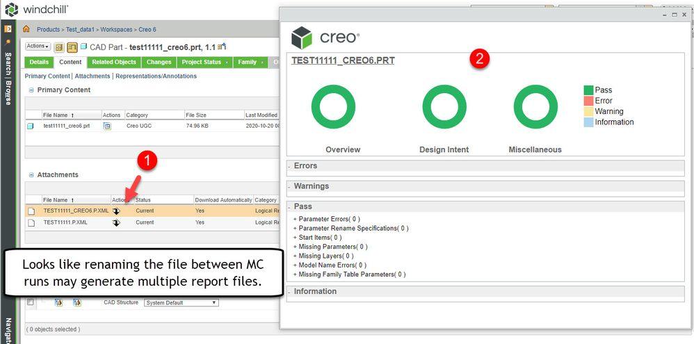 ModelCheck - New Creo 6 XML Report in WC.jpg