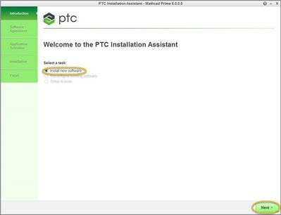 Select #Install New Software and  select #Next