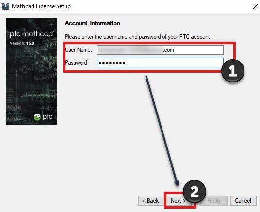 Provide PTC.com account information