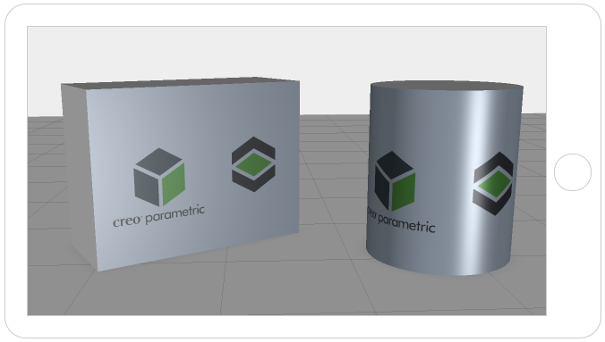 decals from CREO Parametric texture