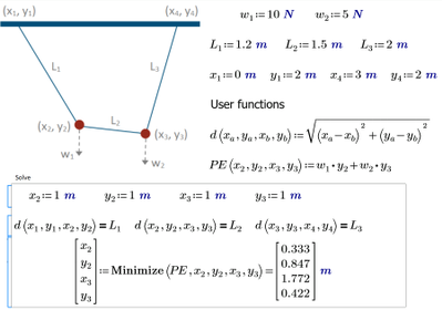 PositionofTwoObjectsSuspendedandConnectedbyRopes-Mathcad.png