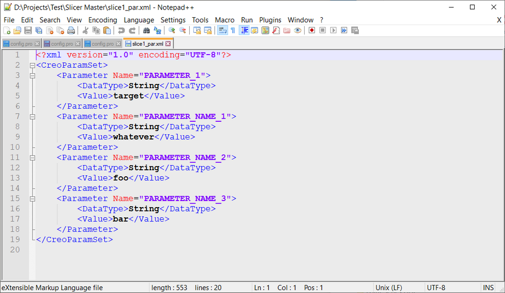 XML file syntax