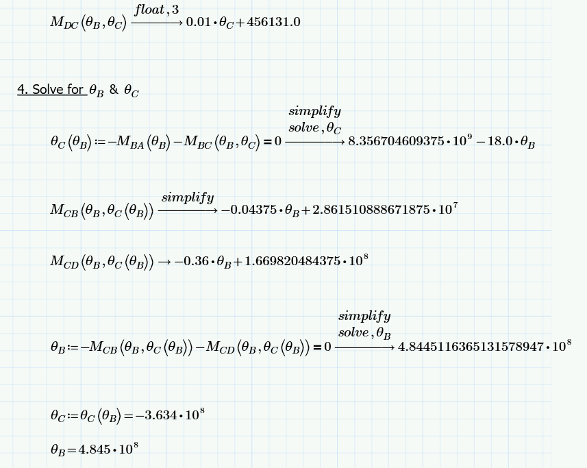 Solved Define A Multiple Symbolic Equation Solve It For Ptc