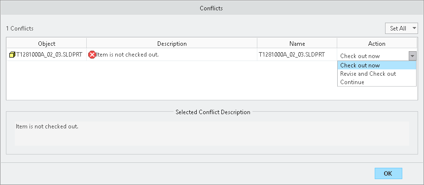SolidWorks Conflict - Revise and Check out.png