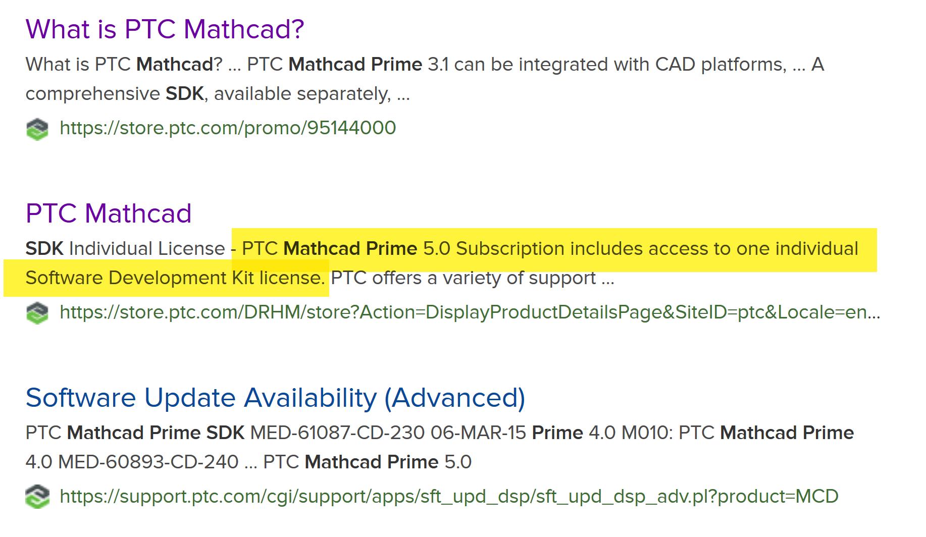 Mathcad Prime SDK License Cost - PTC Community