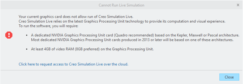 Solved: Graphic Card not support by Creo Simulation Live - PTC Community