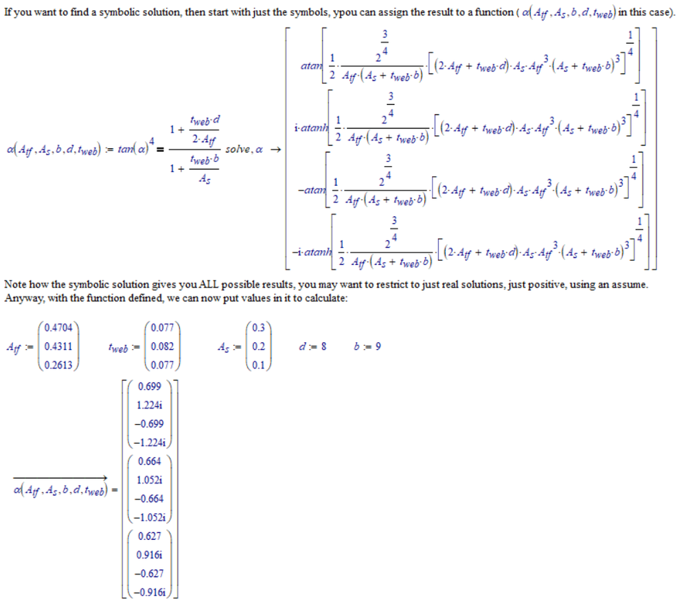 Symbolic calculation using matrix callouts  - PTC Community
