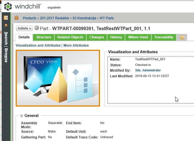 2019-06-14 13_40_06-Part - WTPART-00099391, TestRestWTPart_001, 1.1 - Internet Explorer.png