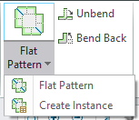 Flat Pattern of ECAD assembly supports only the Family Table