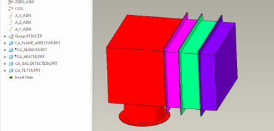 Model after suppressing-and-resuming the components