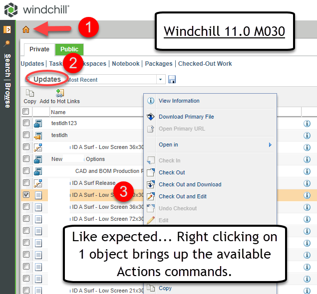 Windchill Home Page Right Click 1 Objects.png