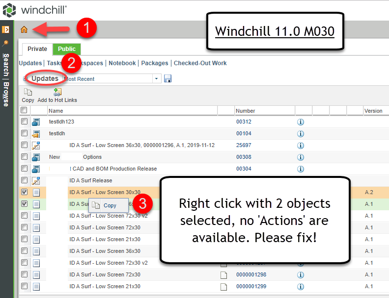 Windchill Home Page Right Click 2 Objects.png