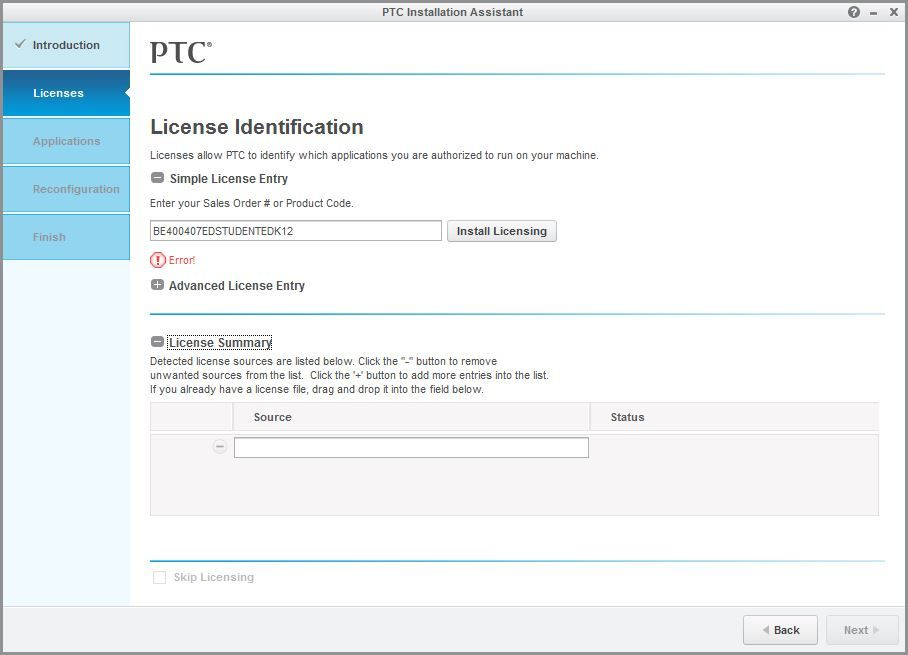 PTC_License Error.JPG