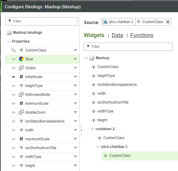 New Configure Bindings Dialog
