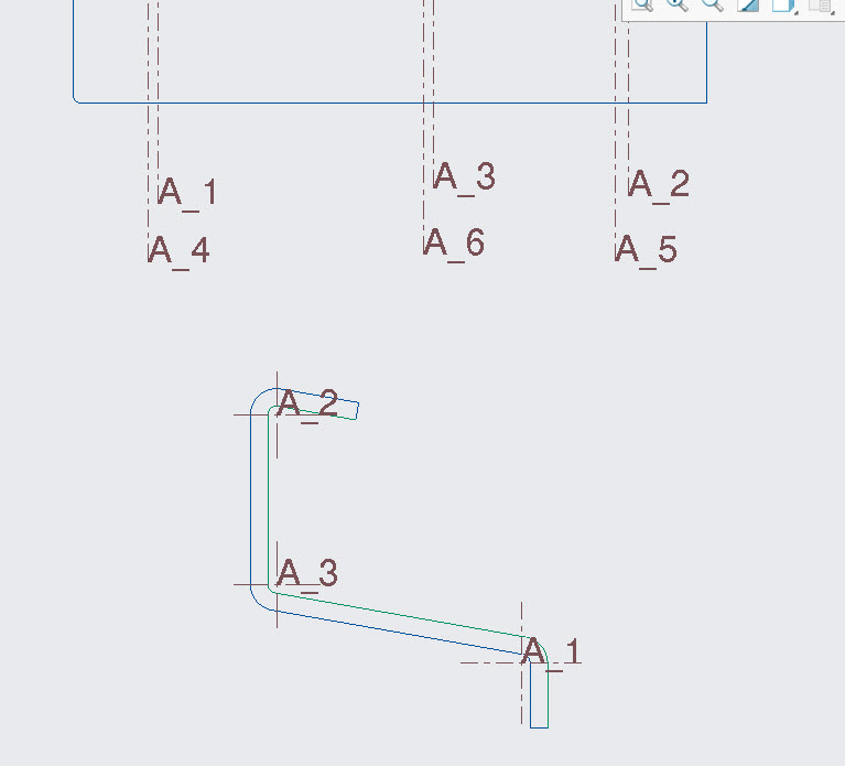 Solved: Sheet Metal Bend Centerlines shown double in drawi