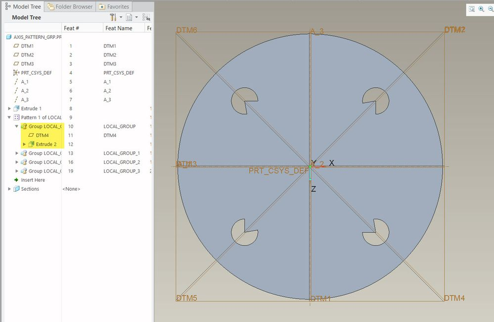 Use of clocking reference to orient extrusion in pattern