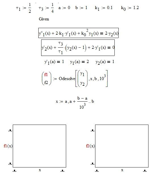 Solved: System of two ordinary differential equation of di    - PTC