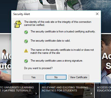 Security Alert Message on Creo 4.0 - PTC Community