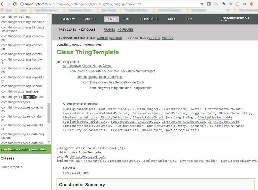 API Documentation: ThingTemplate