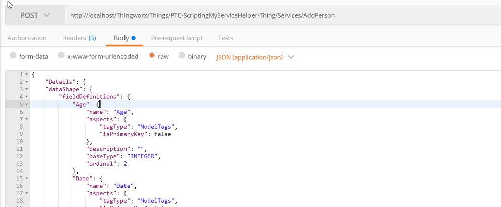 Solved: Rest API service with Datashape input - PTC Community